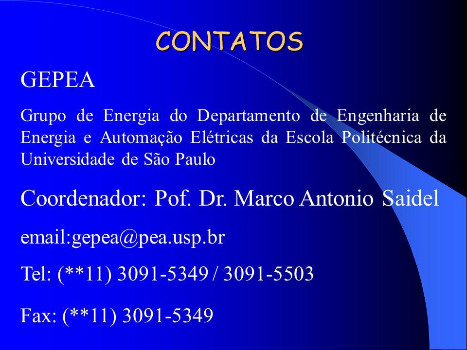 CONTATOS GEPEA Coordenador: Pof. Dr. Marco Antonio Saidel