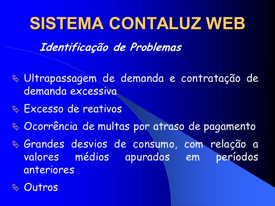 SISTEMA CONTALUZ WEB Identificação de Problemas