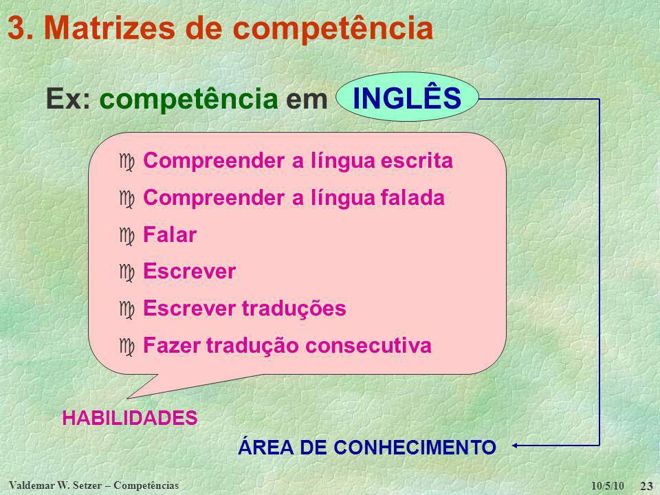 3. Matrizes de competência