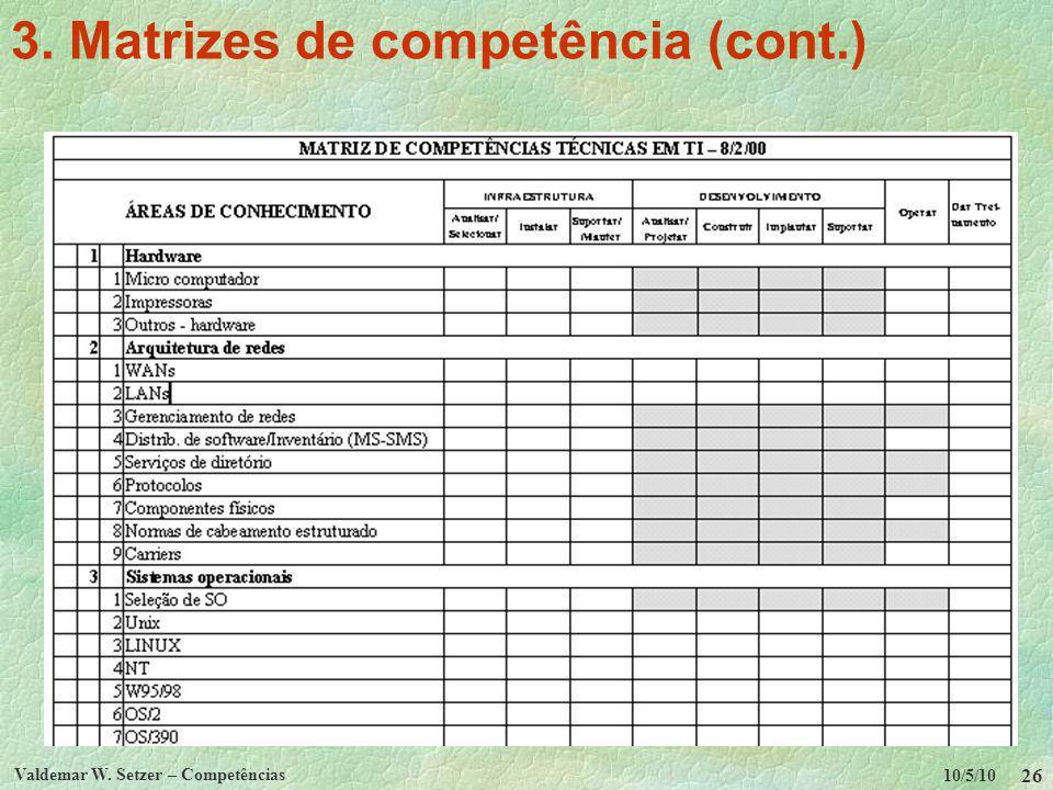 3. Matrizes de competência (cont.)