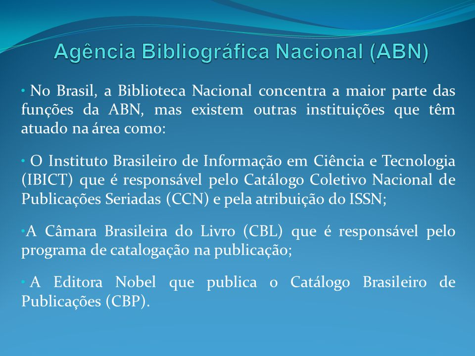 Agência Bibliográfica Nacional (ABN)