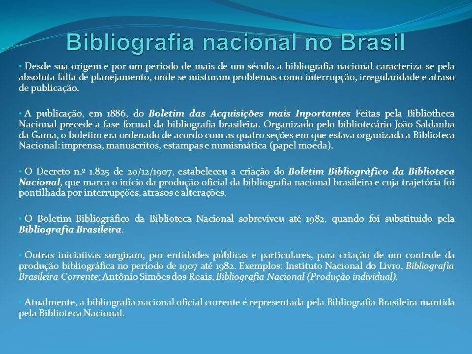 Bibliografia nacional no Brasil