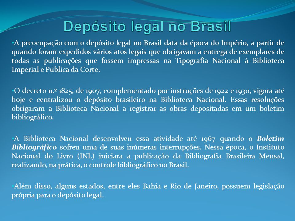Depósito legal no Brasil