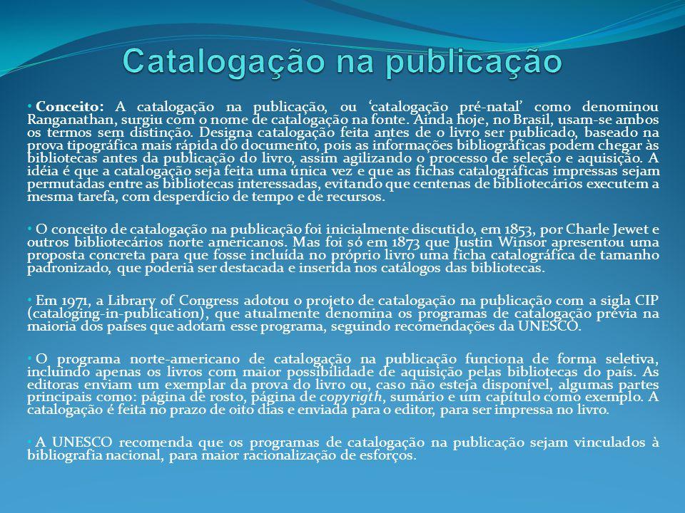 Catalogação na publicação