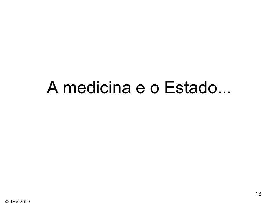 A medicina e o Estado... © JEV 2006