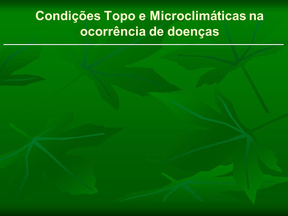 Condições Topo e Microclimáticas na ocorrência de doenças