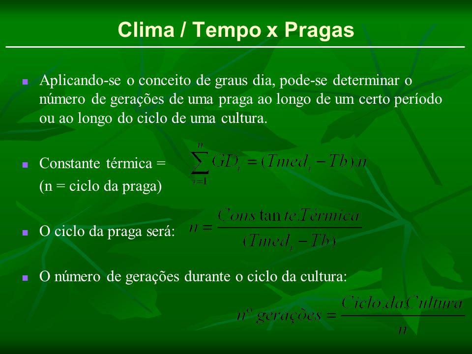 Clima / Tempo x Pragas