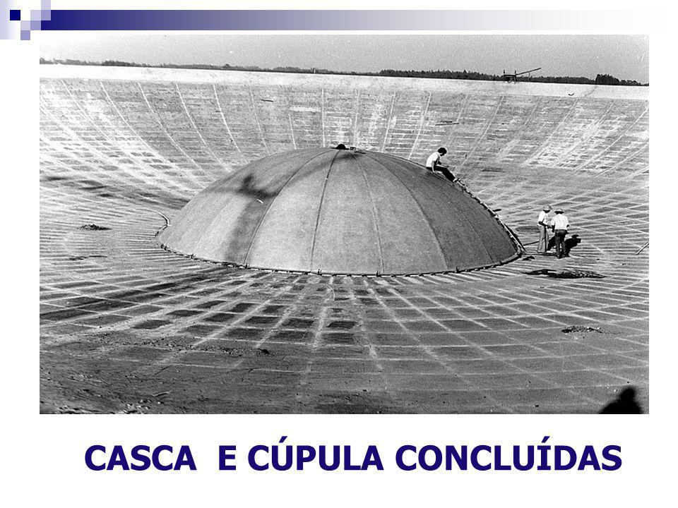CASCA E CÚPULA CONCLUÍDAS