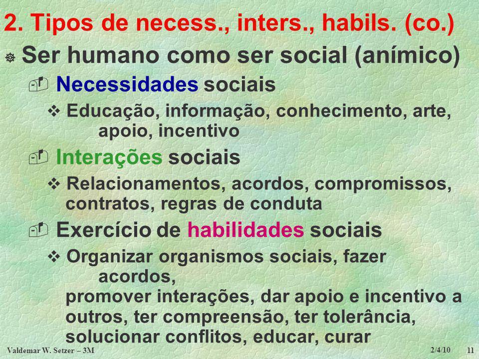 2. Tipos de necess., inters., habils. (co.)