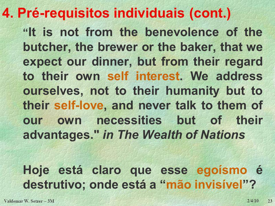 4. Pré-requisitos individuais (cont.)