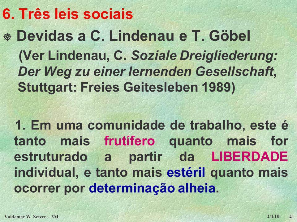 Devidas a C. Lindenau e T. Göbel