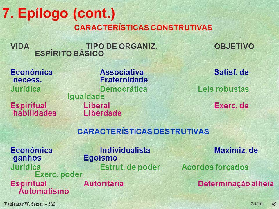 CARACTERÍSTICAS CONSTRUTIVAS CARACTERÍSTICAS DESTRUTIVAS