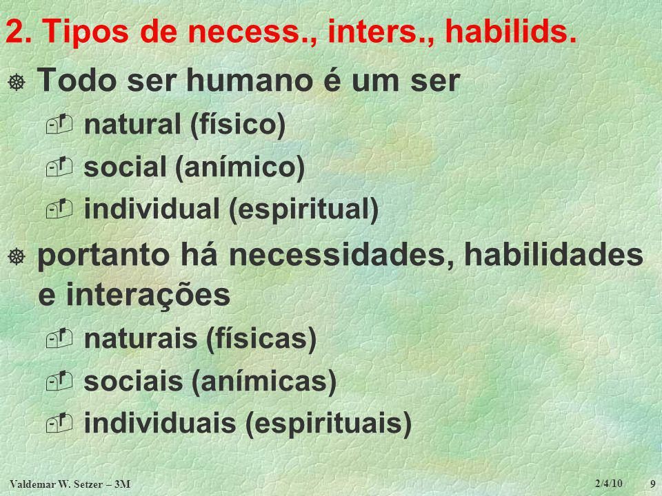 2. Tipos de necess., inters., habilids.