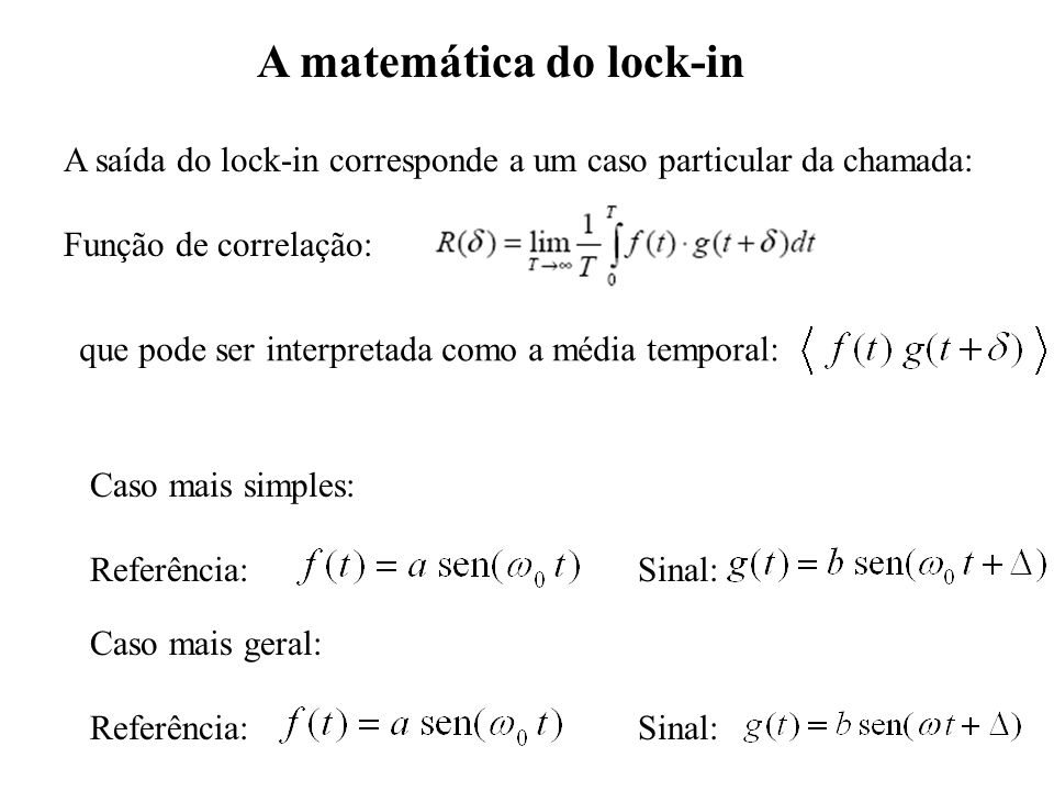 A matemática do lock-in