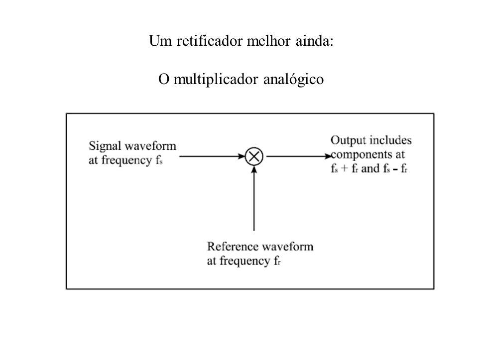 Um retificador melhor ainda: O multiplicador analógico
