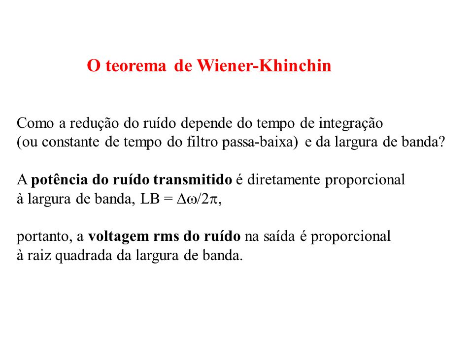 O teorema de Wiener-Khinchin