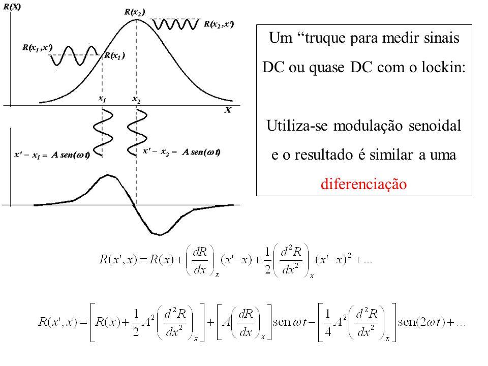 Um truque para medir sinais DC ou quase DC com o lockin: