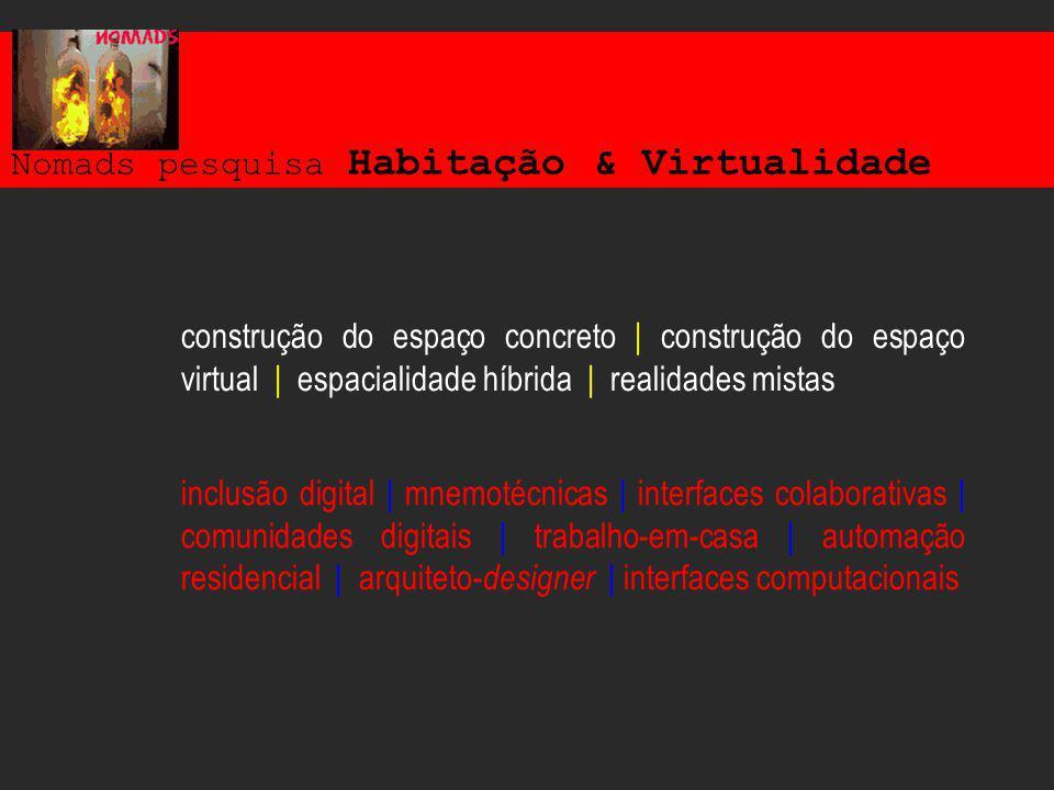 Nomads pesquisa Habitação & Virtualidade