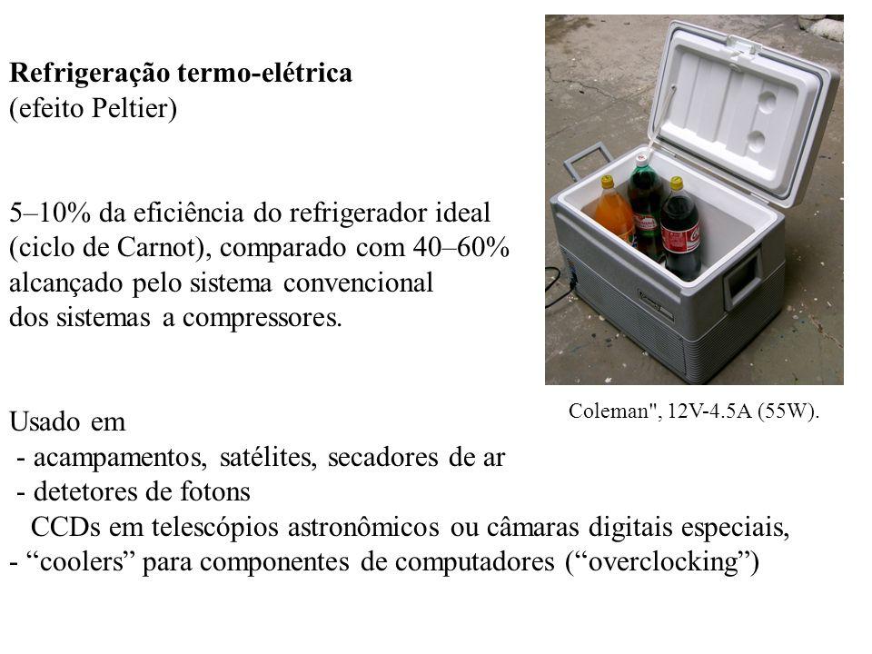 Refrigeração termo-elétrica (efeito Peltier)