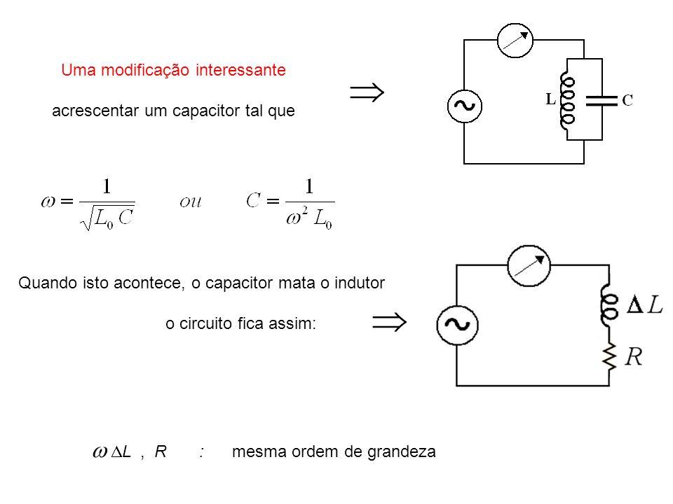    L , R : mesma ordem de grandeza Uma modificação interessante