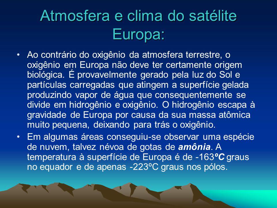 Atmosfera e clima do satélite Europa: