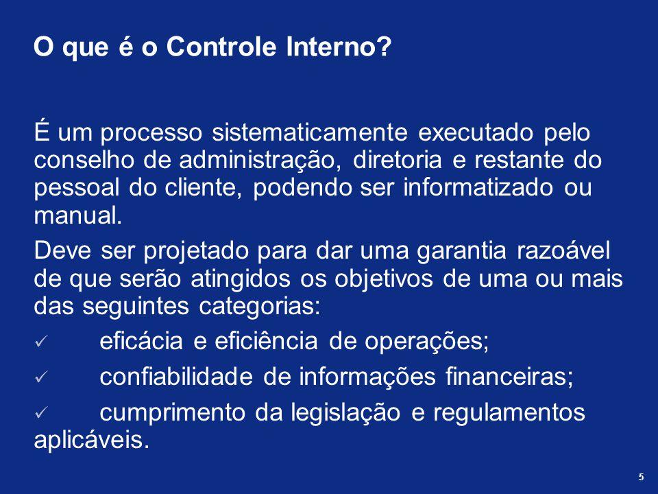 O que é o Controle Interno