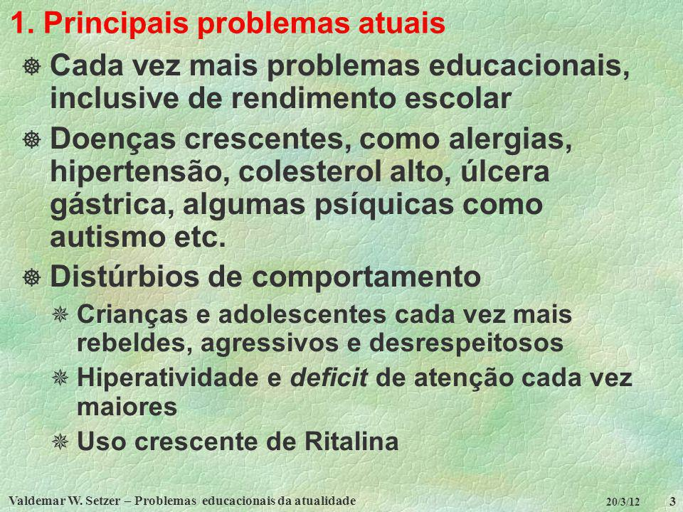 1. Principais problemas atuais