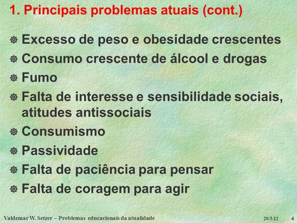 1. Principais problemas atuais (cont.)