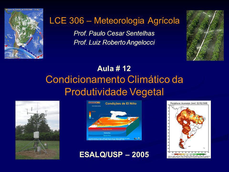 Condicionamento Climático da Produtividade Vegetal