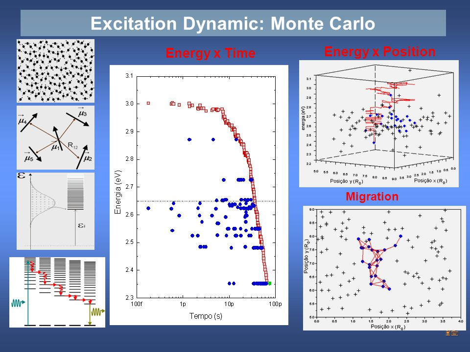 Excitation Dynamic: Monte Carlo