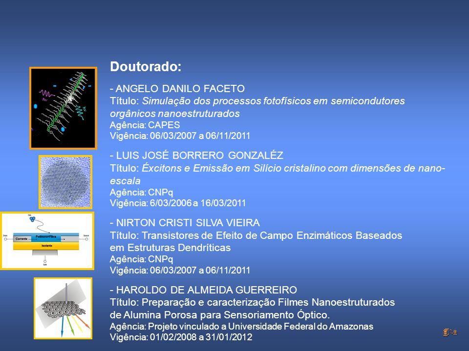 Doutorado: - ANGELO DANILO FACETO