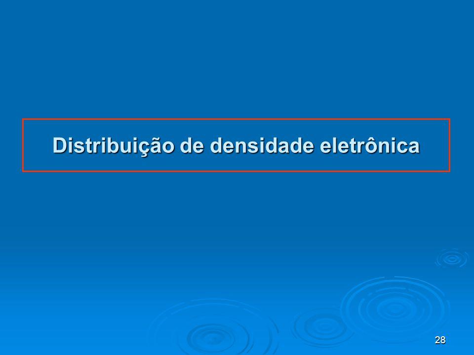 Distribuição de densidade eletrônica
