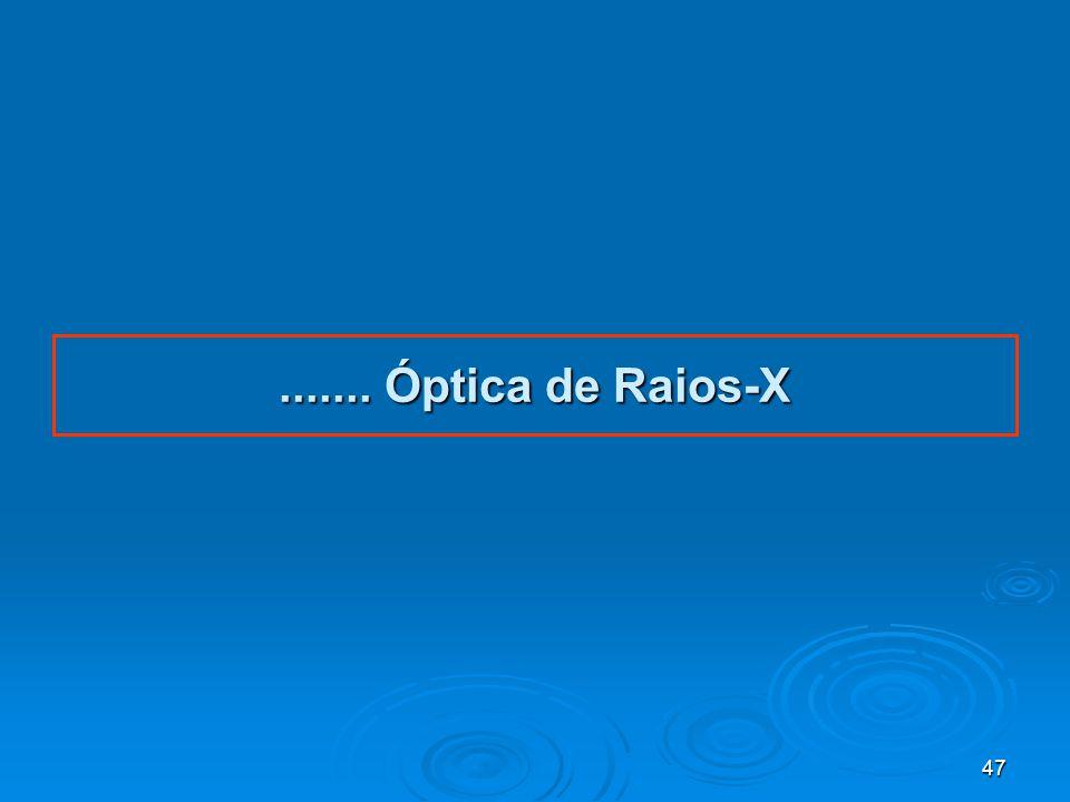 ....... Óptica de Raios-X