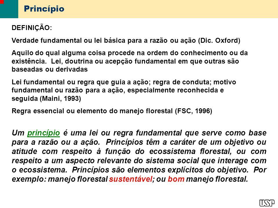 Princípio DEFINIÇÃO: Verdade fundamental ou lei básica para a razão ou ação (Dic. Oxford)