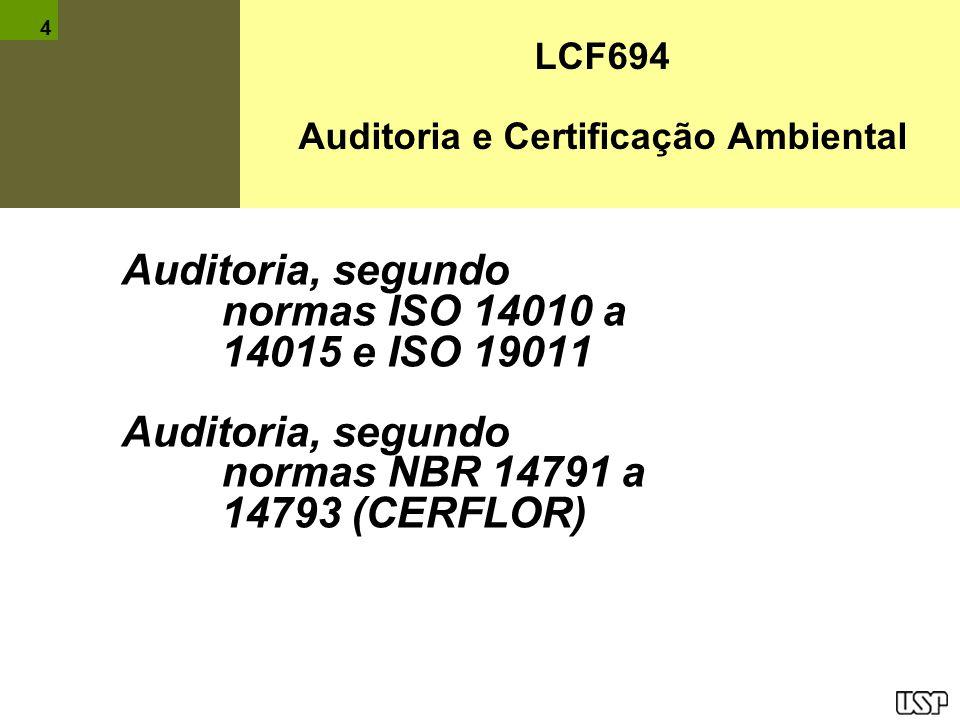 Auditoria e Certificação Ambiental
