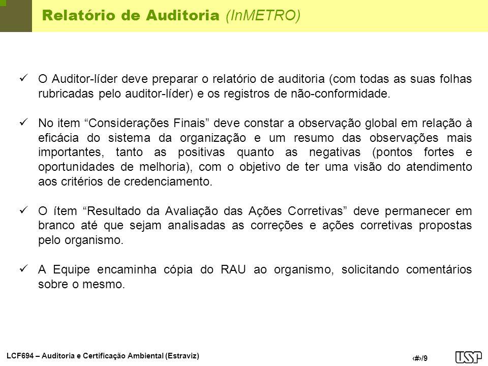 Relatório de Auditoria (InMETRO)