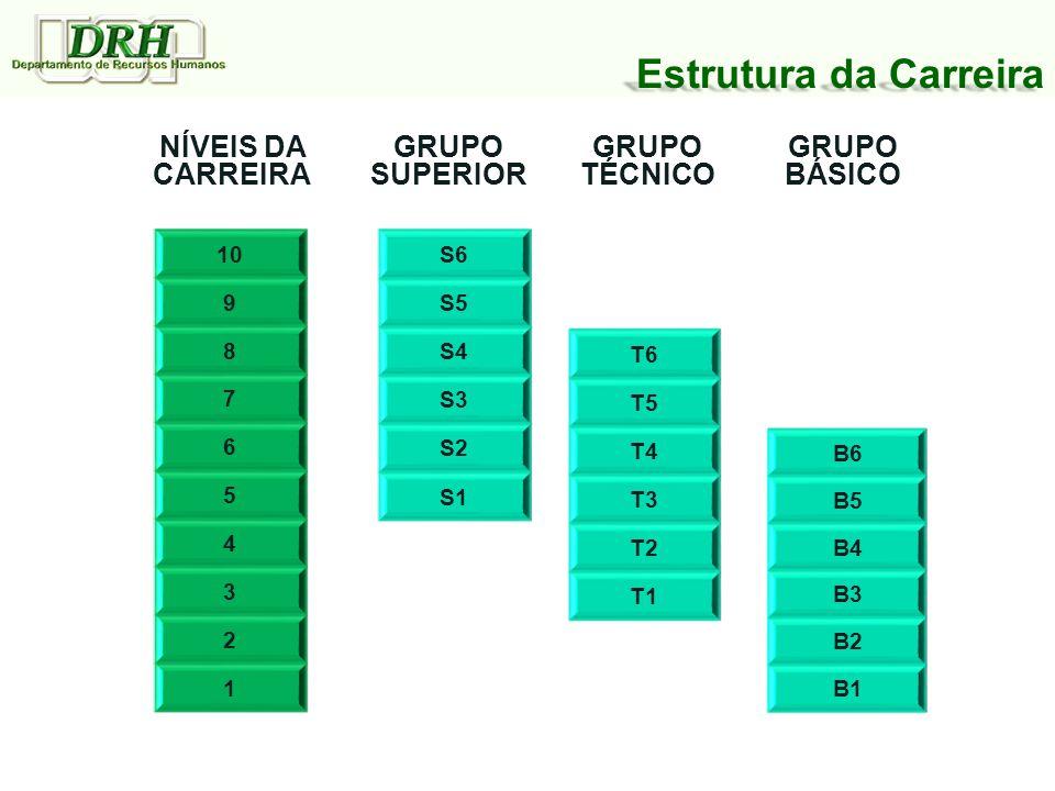 Estrutura da Carreira NÍVEIS DA CARREIRA GRUPO SUPERIOR GRUPO TÉCNICO