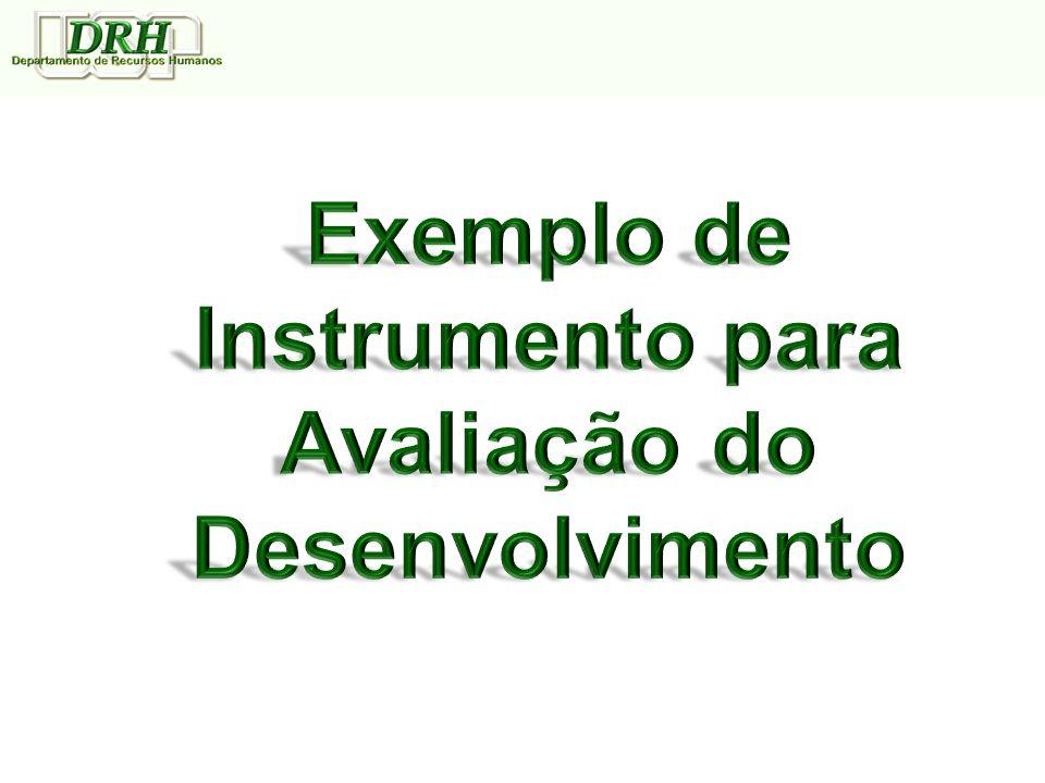 Exemplo de Instrumento para Avaliação do Desenvolvimento
