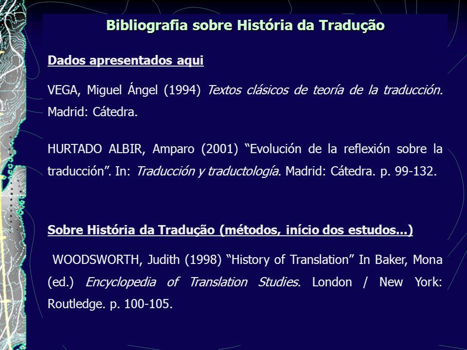 Bibliografia sobre História da Tradução