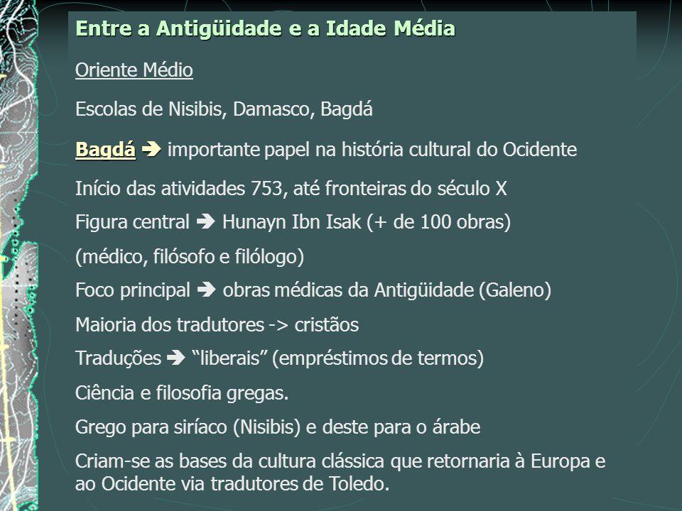 Entre a Antigüidade e a Idade Média