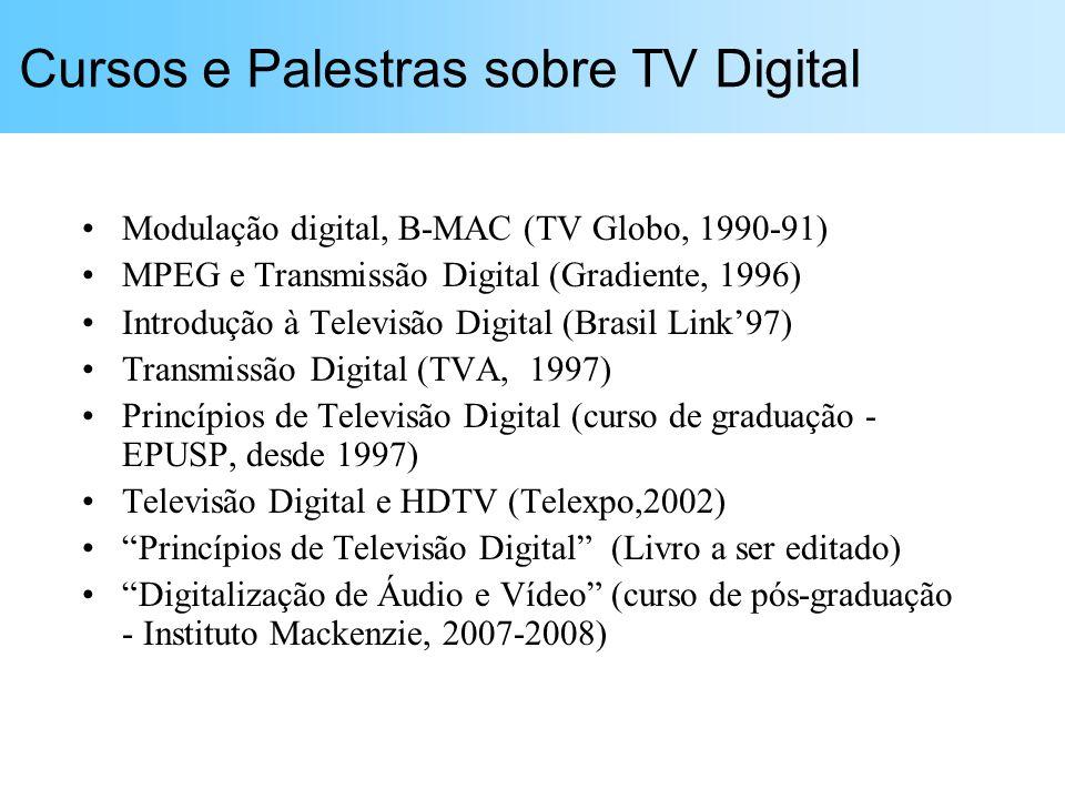 Cursos e Palestras sobre TV Digital