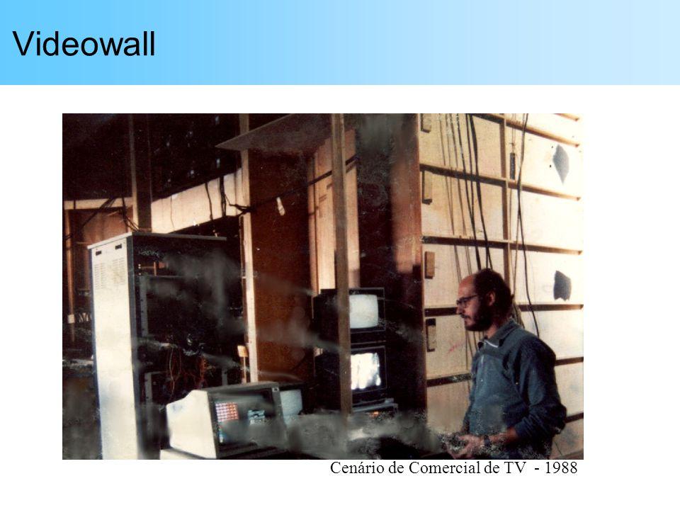 Videowall Cenário de Comercial de TV - 1988