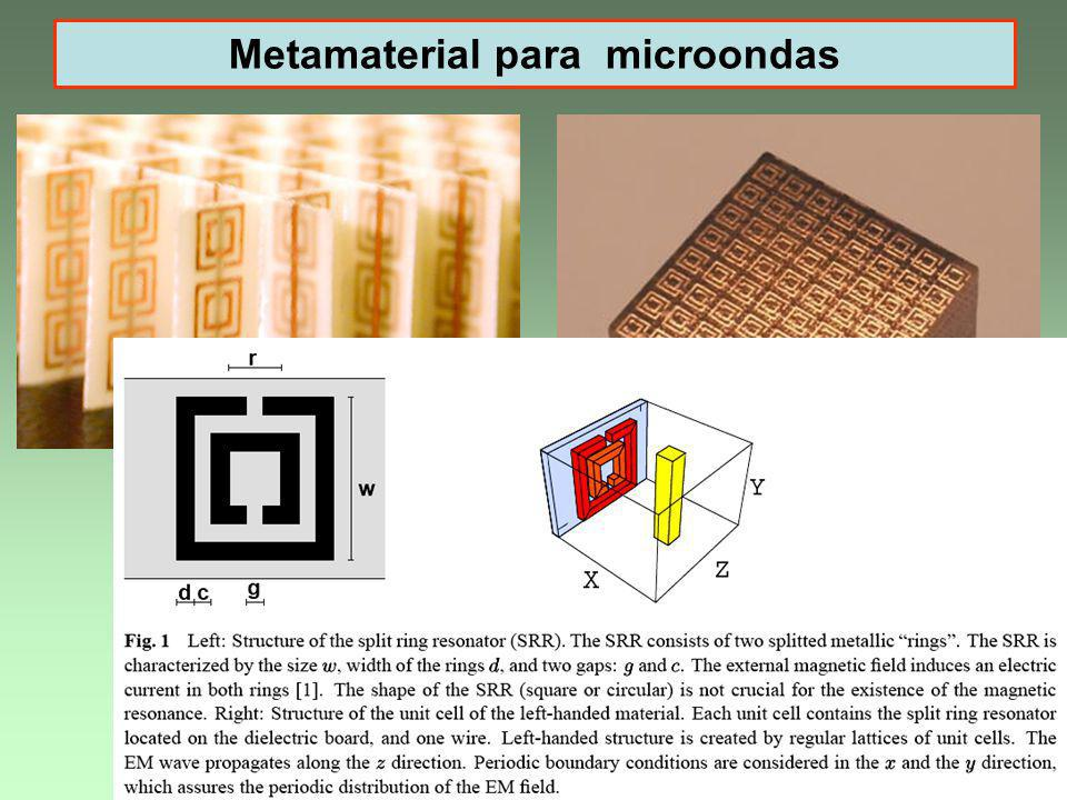 Metamaterial para microondas