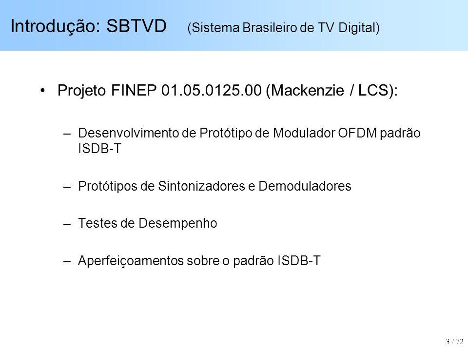 Introdução: SBTVD (Sistema Brasileiro de TV Digital)