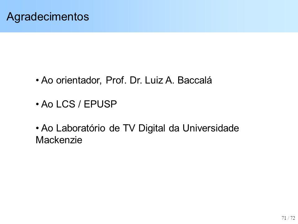Agradecimentos Ao orientador, Prof. Dr. Luiz A. Baccalá Ao LCS / EPUSP