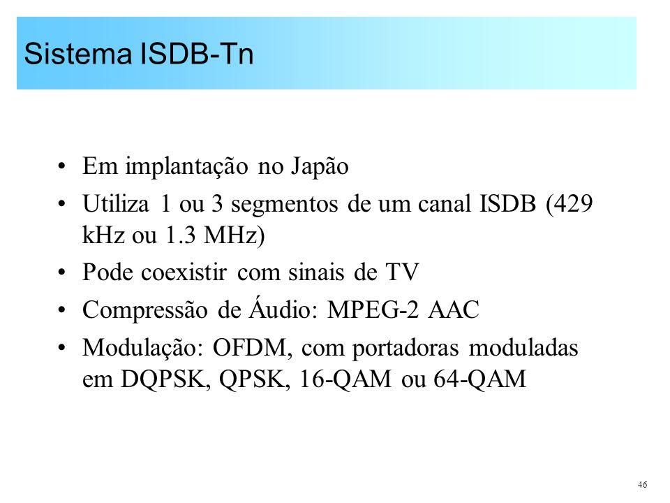 Sistema ISDB-Tn Em implantação no Japão