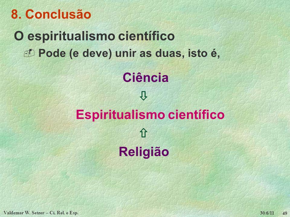 Espiritualismo científico Valdemar W. Setzer – Ci. Rel. e Esp.