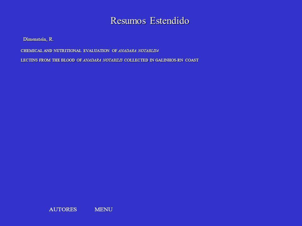 Resumos Estendido AUTORES MENU Dimenstein, R.