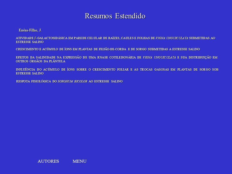 Resumos Estendido AUTORES MENU Enéas-Filho, J.