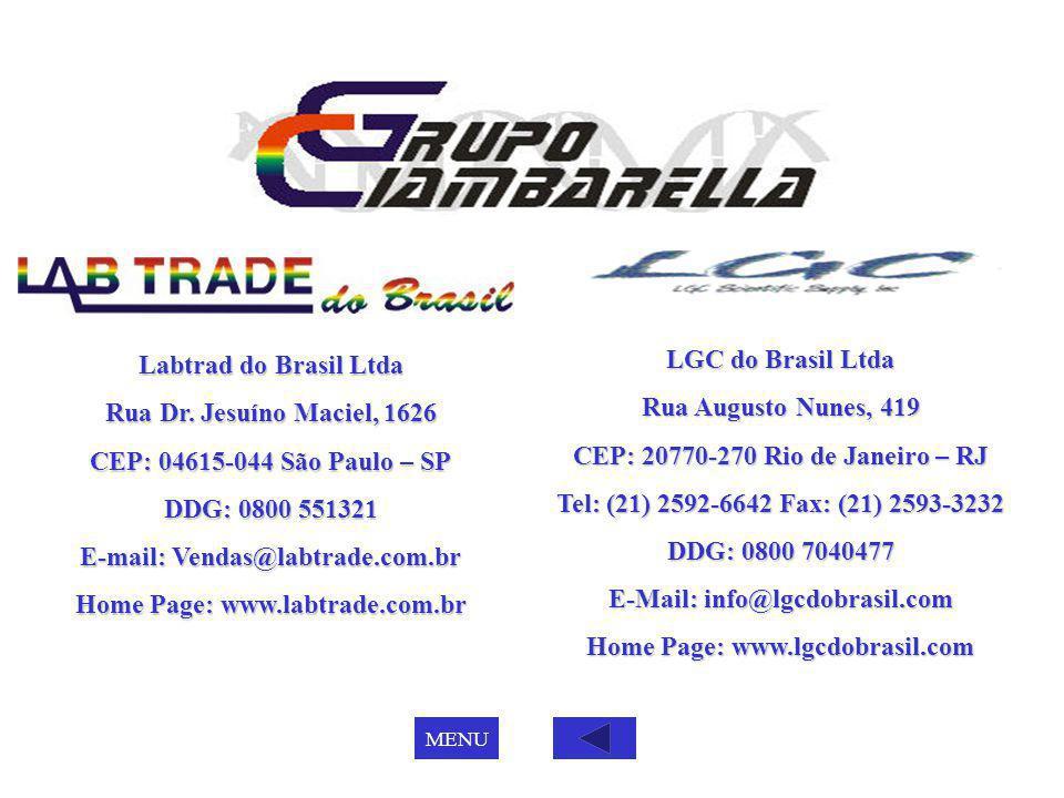E-mail: Vendas@labtrade.com.br Home Page: www.labtrade.com.br